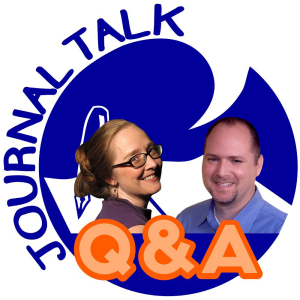JournalTalk Q&A Podcast Logo with Heather Seversen