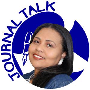 Raychelle LeBlanc and JournalTalk logo
